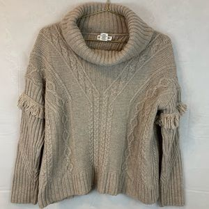 Artisan Ny Oversized Cable Knit Cowl Neck Sweater